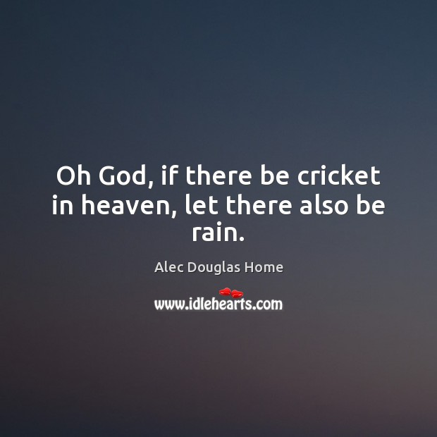 Image, Oh God, if there be cricket in heaven, let there also be rain.