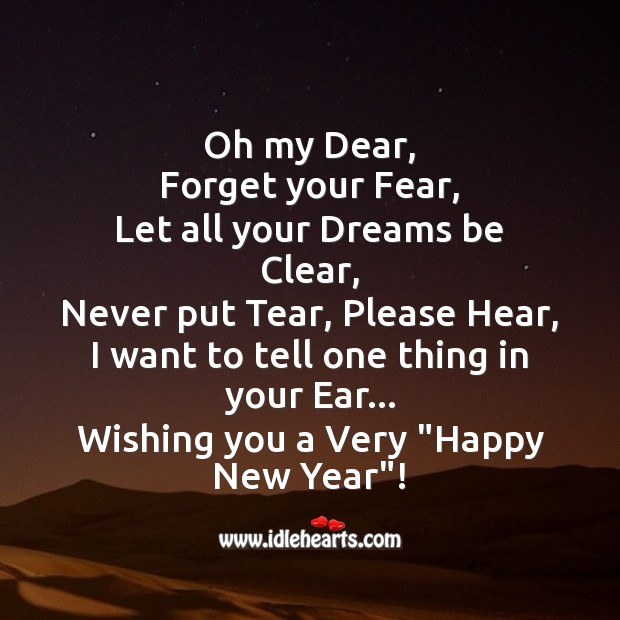Happy New Year Dear 2013