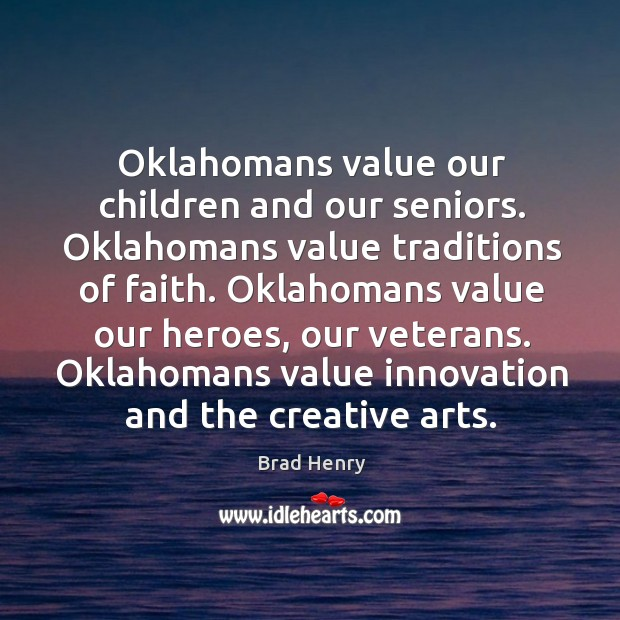 Oklahomans value innovation and the creative arts. Image