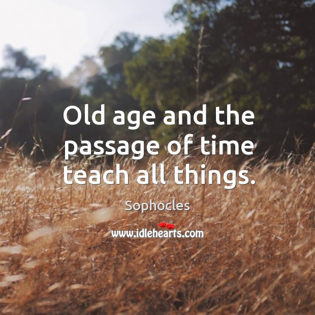 Image, Old age and the passage of time teach all things.
