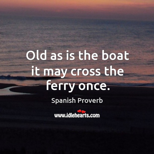 Old as is the boat it may cross the ferry once. Image