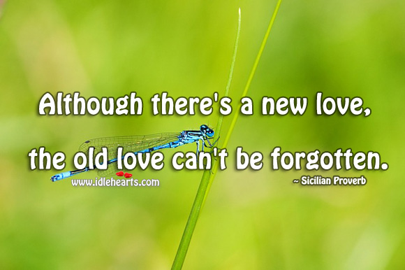 Image, Although there's a new love, the old love can't be forgotten.