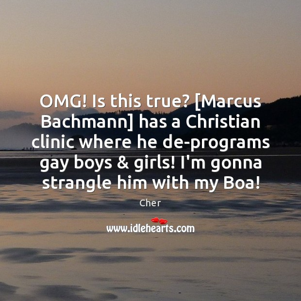 OMG! Is this true? [Marcus Bachmann] has a Christian clinic where he Image