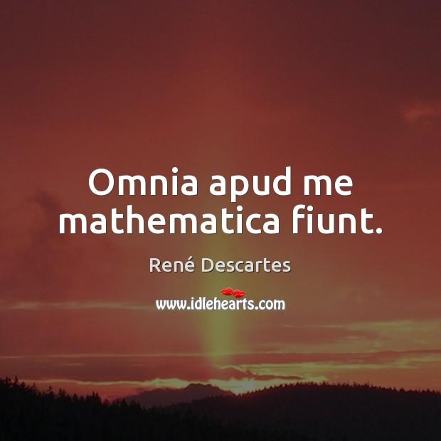 Omnia apud me mathematica fiunt. Image