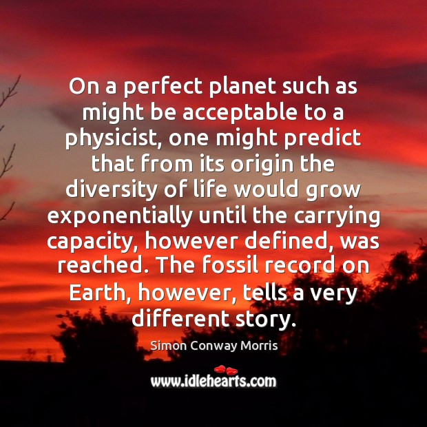 Image, On a perfect planet such as might be acceptable to a physicist,