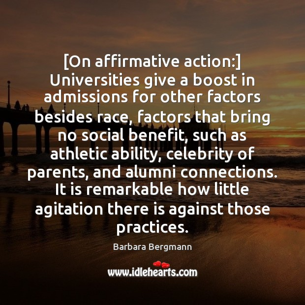 running head affirmative action by barbara Affirmative action is harmful to society essay affirmative action is harmful to society essay 1805 words 8 pages in the controversial realms of affirmative action.