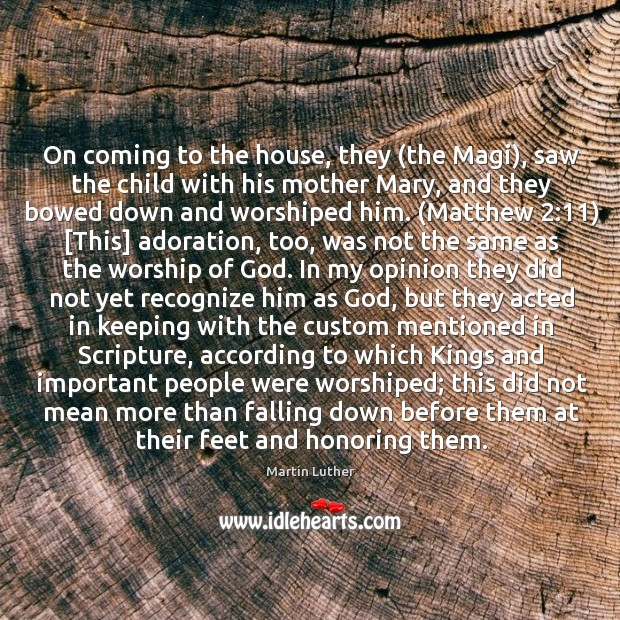 On coming to the house, they (the Magi), saw the child with Image