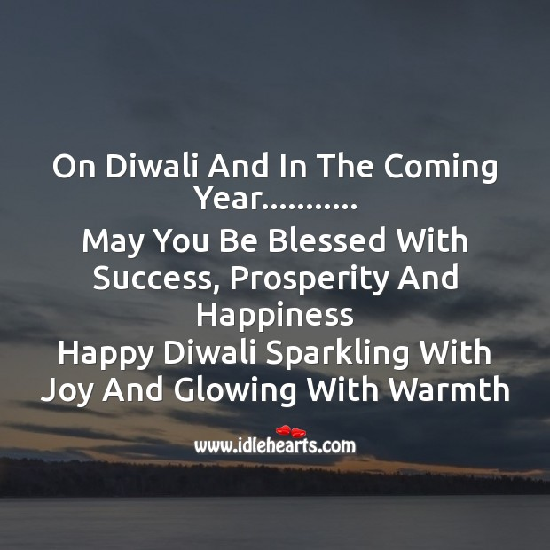 On diwali and in the coming year. Diwali Messages Image