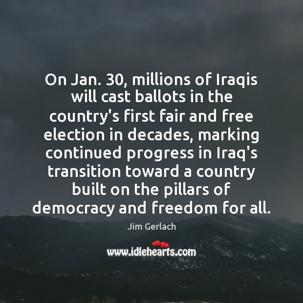 Image, On Jan. 30, millions of Iraqis will cast ballots in the country's first