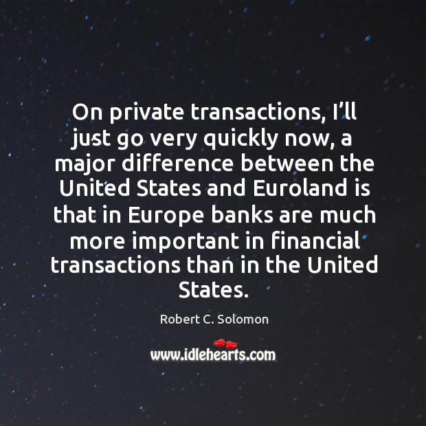 On private transactions, I'll just go very quickly now Image
