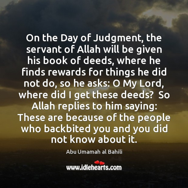 Image, On the Day of Judgment, the servant of Allah will be given