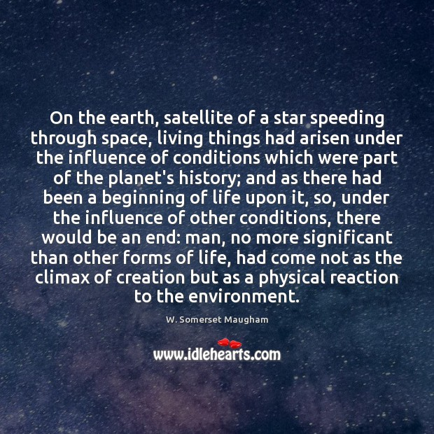 Image, On the earth, satellite of a star speeding through space, living things