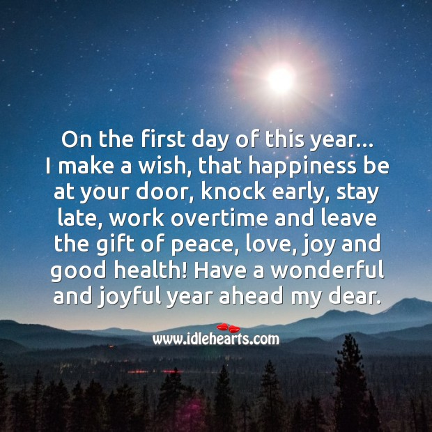 First Work Day Quotes: Quotes About New Year Message For Girlfriend / Picture
