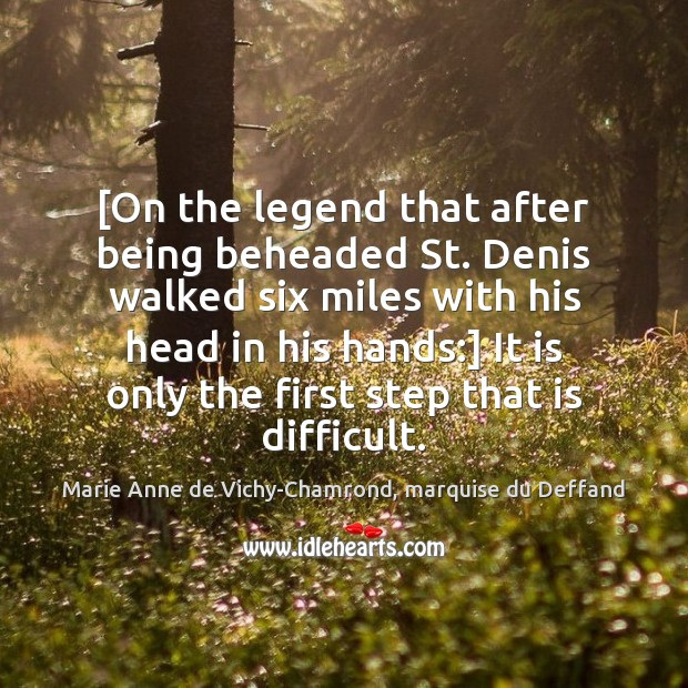 Image, [On the legend that after being beheaded St. Denis walked six miles