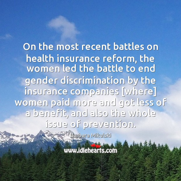 Image, On the most recent battles on health insurance reform, the women led