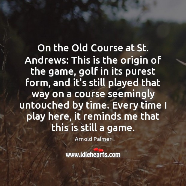 Image, On the Old Course at St. Andrews: This is the origin of