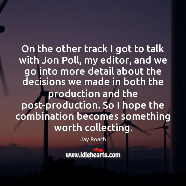 On the other track I got to talk with Jon Poll, my Image