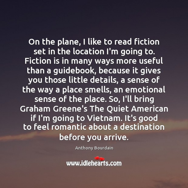 Image, On the plane, I like to read fiction set in the location