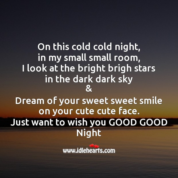 Image, On this cold cold night