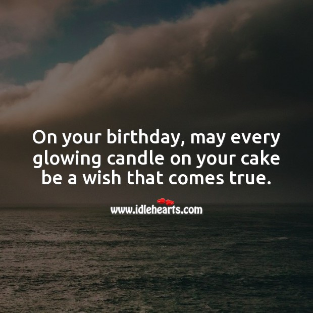 On your birthday, may every glowing candle on your cake be a wish that comes true. Happy Birthday Wishes Image