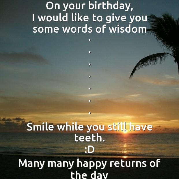 Image, On your birthday