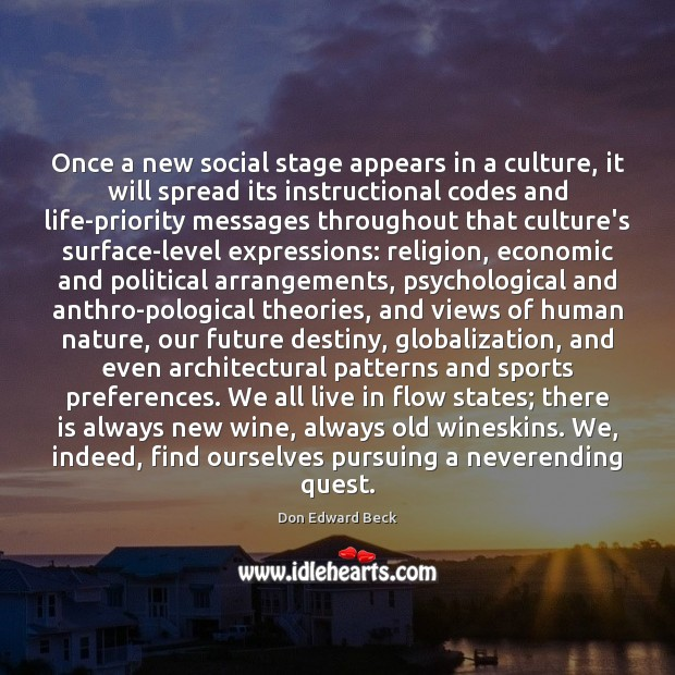 Once a new social stage appears in a culture, it will spread Image