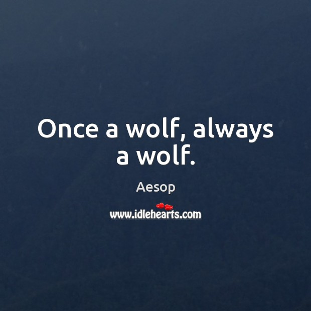 Image, Once a wolf, always a wolf.