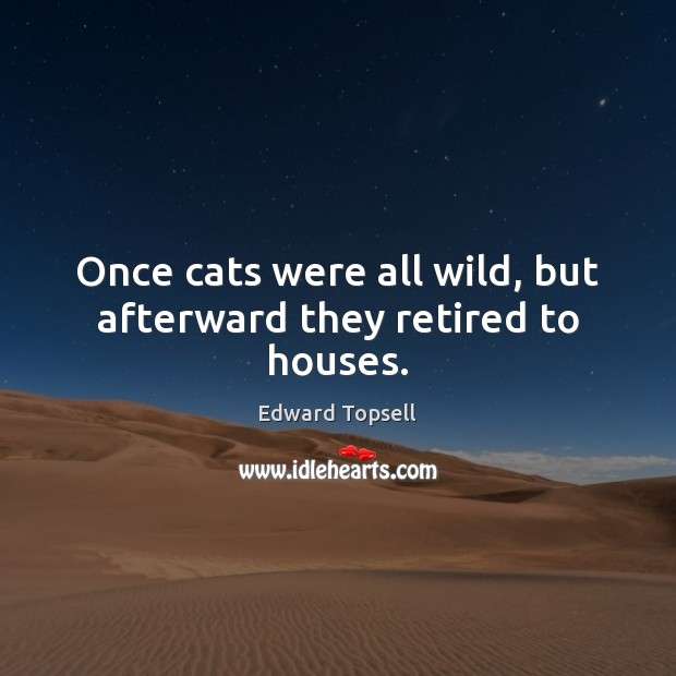 Once cats were all wild, but afterward they retired to houses. Image