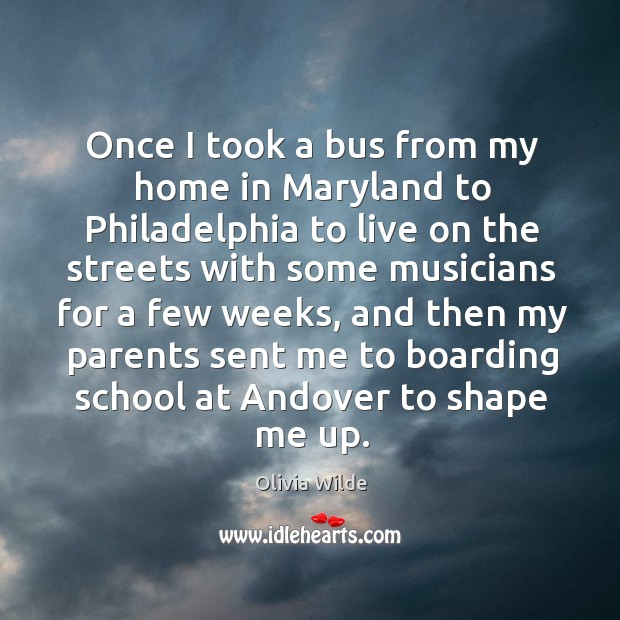 Once I took a bus from my home in maryland to philadelphia Image