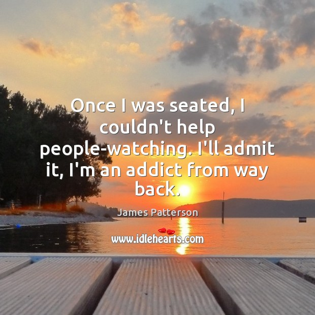 Once I was seated, I couldn't help people-watching. I'll admit it, I'm Image