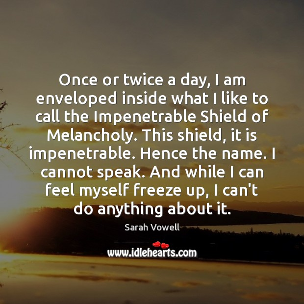 Once or twice a day, I am enveloped inside what I like Sarah Vowell Picture Quote
