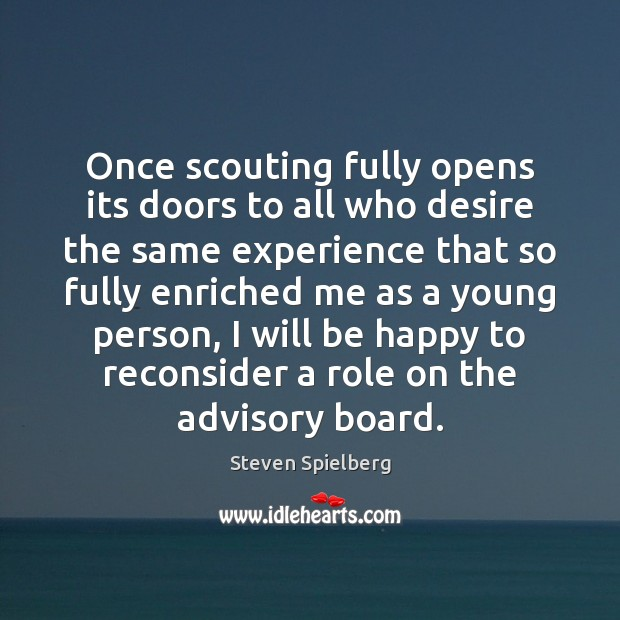 Image, Once scouting fully opens its doors to all who desire the same