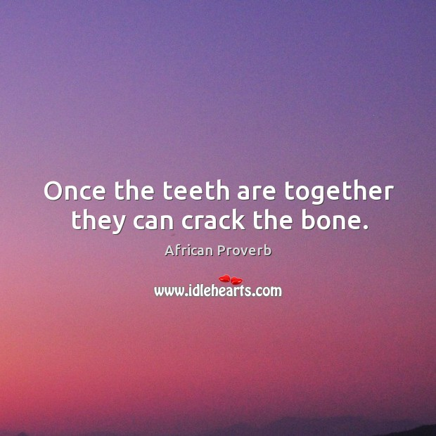 Image, Once the teeth are together they can crack the bone.