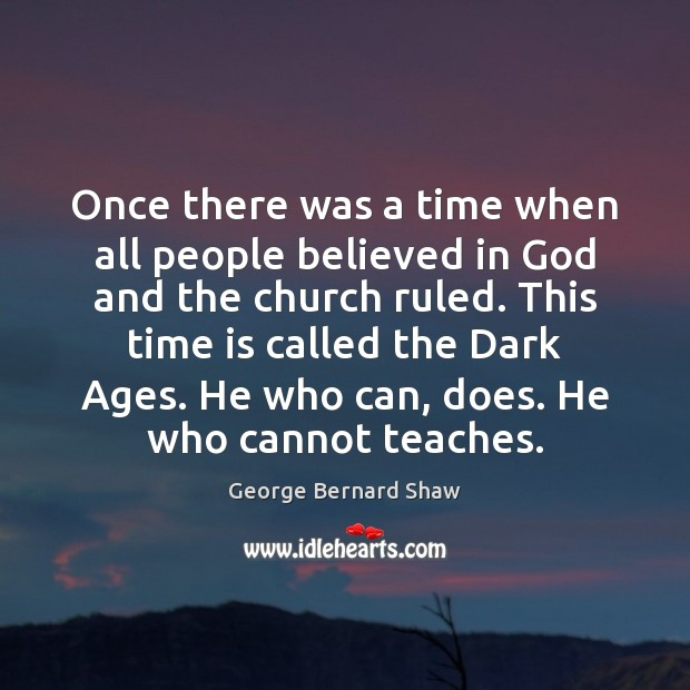 Once there was a time when all people believed in God and Image