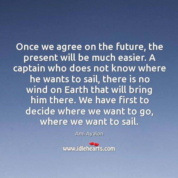 Image, Once we agree on the future, the present will be much easier.