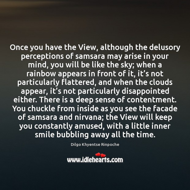 Once you have the View, although the delusory perceptions of samsara may Dilgo Khyentse Rinpoche Picture Quote