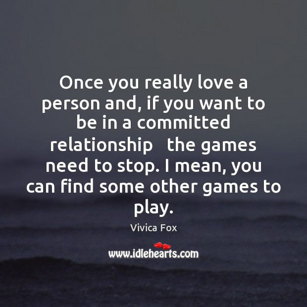Once you really love a person and, if you want to be Image
