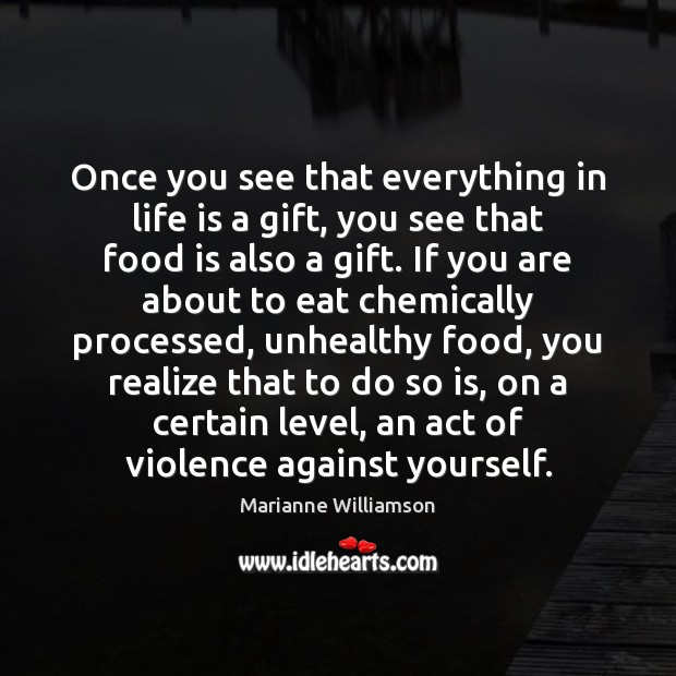 Once you see that everything in life is a gift, you see Image