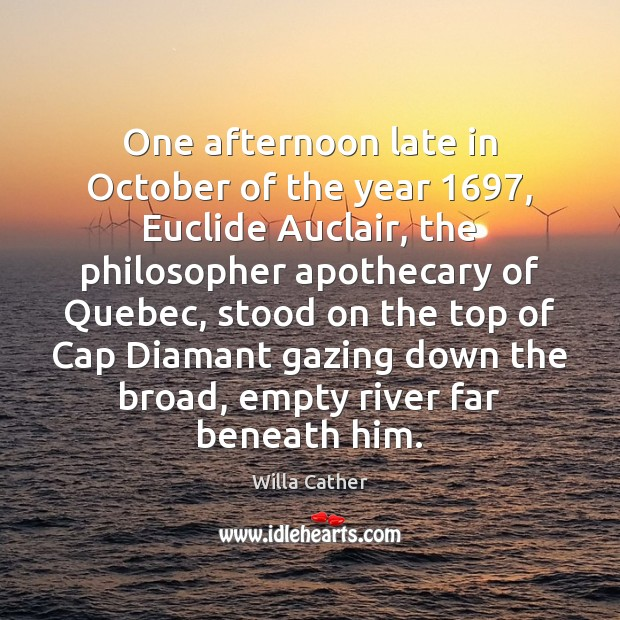 Image, One afternoon late in October of the year 1697, Euclide Auclair, the philosopher