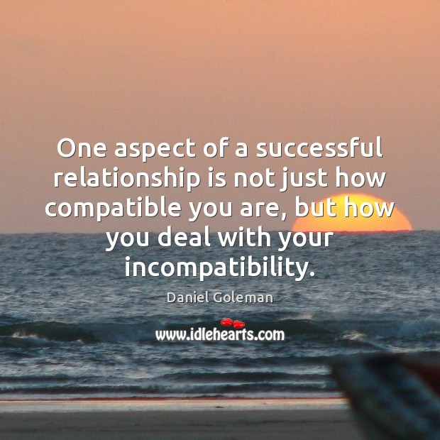 One aspect of a successful relationship is not just how compatible you Image