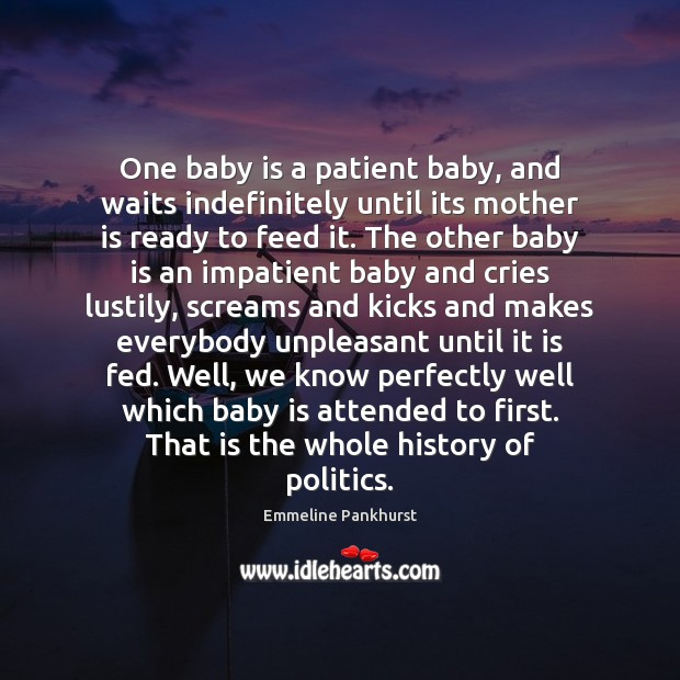 One baby is a patient baby, and waits indefinitely until its mother Image