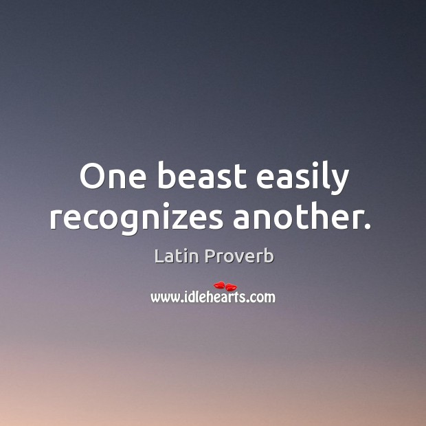 Image, One beast easily recognizes another.
