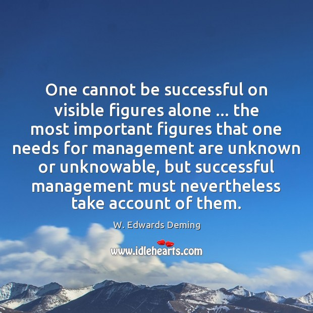 Image, One cannot be successful on visible figures alone … the most important figures