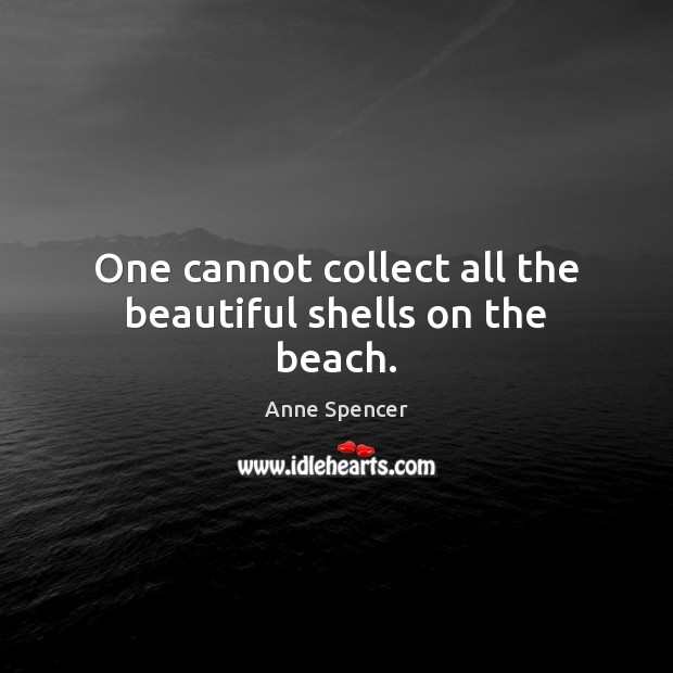 One cannot collect all the beautiful shells on the beach. Image