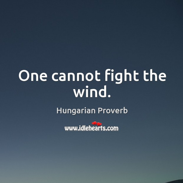 Image, One cannot fight the wind.