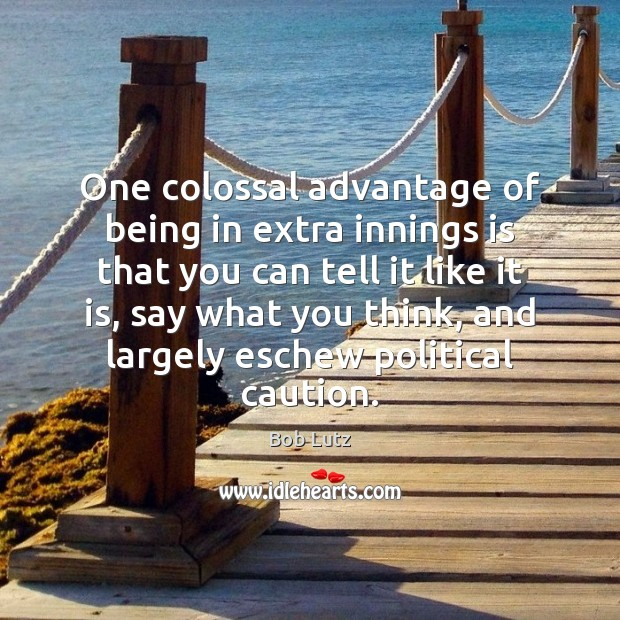 Image, One colossal advantage of being in extra innings is that you can