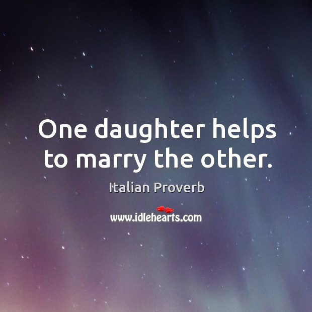 Image, One daughter helps to marry the other.