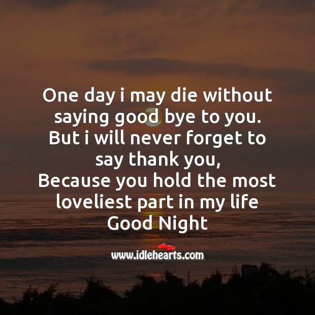 One day I may die without saying good bye Image