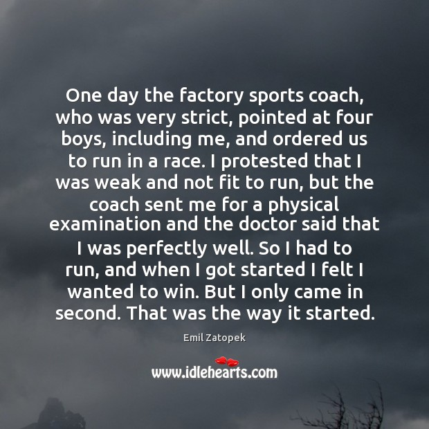 Image, One day the factory sports coach, who was very strict, pointed at