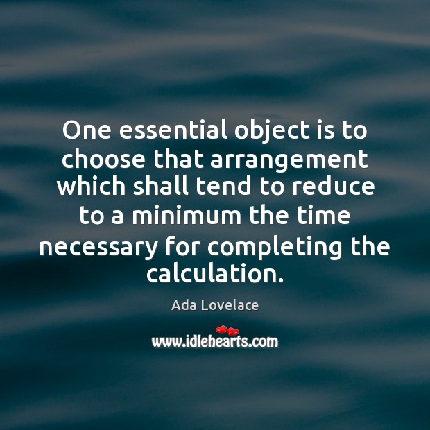 Image, One essential object is to choose that arrangement which shall tend to